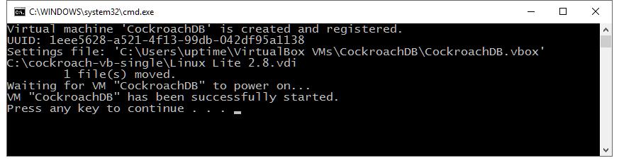 Configure and Start the Virtual Machine | uptimeDBA